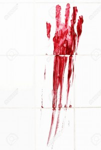 9855242-Bloody-handprint-with-streaks-on-bathroom-tiles-Stock-Photo-horror-blood-bloody